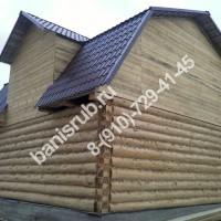 баня с мансардой рубка в лапу ломаная крыша