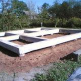 Столбчатый фундамент бани