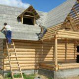 Постройка крыши с уклоном